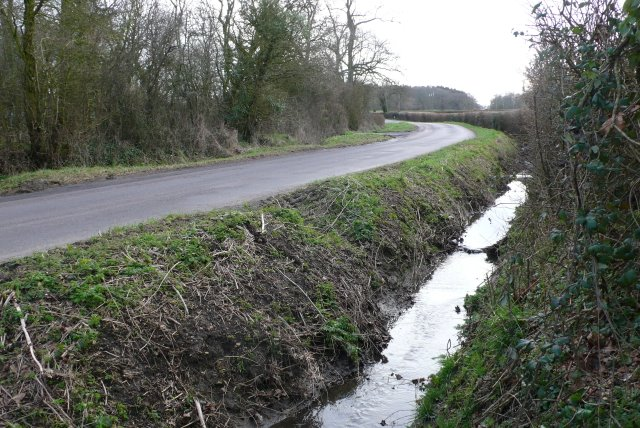 Country lane and Ditch