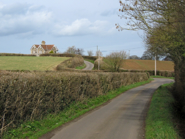 Unnamed country lane near Bridgwater