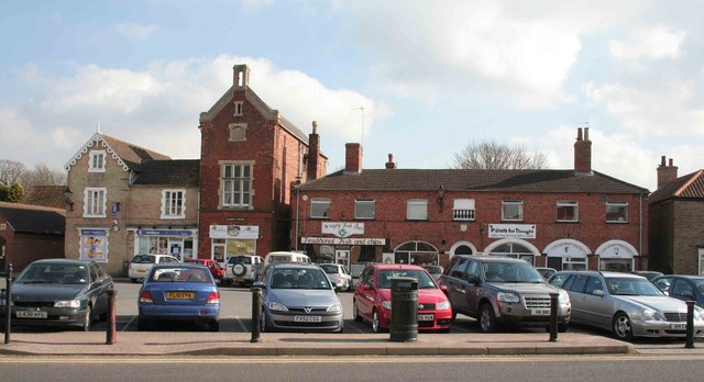 Wragby Market place and car park