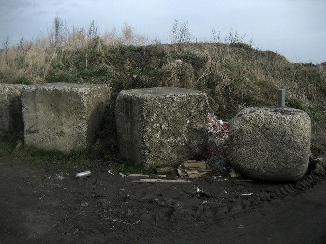 Blocks above Lynemouth Bay