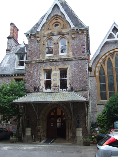 Front door of Brunel Manor