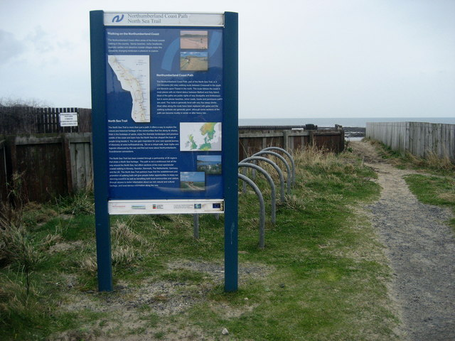 Start of the Northumberland Coast Path