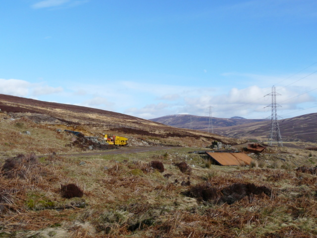 The track to Craggie: road building machinery
