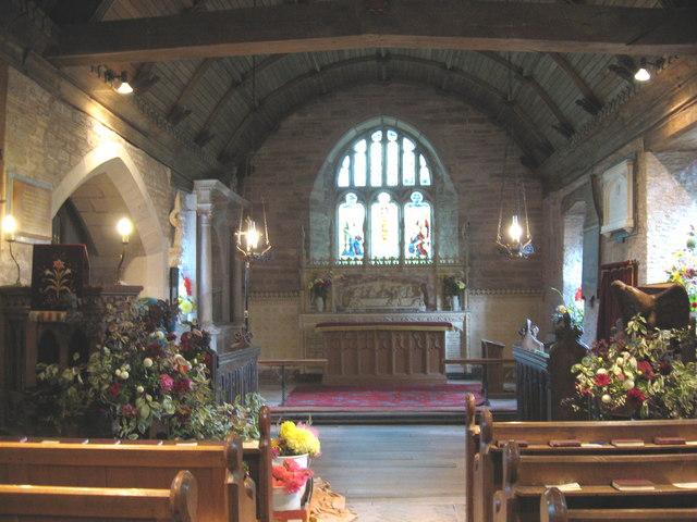 Interior of  St. Faith's Church,  Bacton