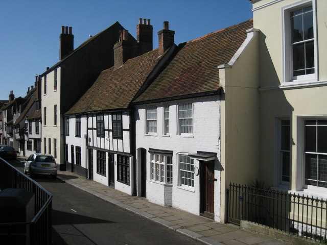 Houses on All Saints' Street, Hastings, East Sussex