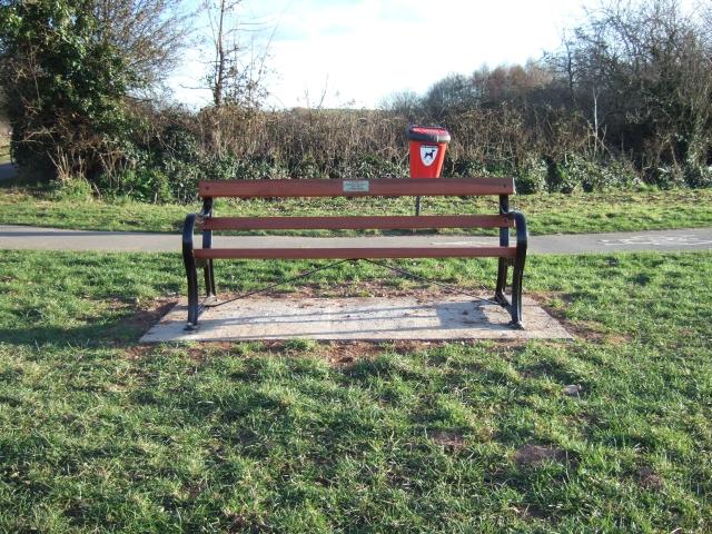 W G Hoskins memorial seat
