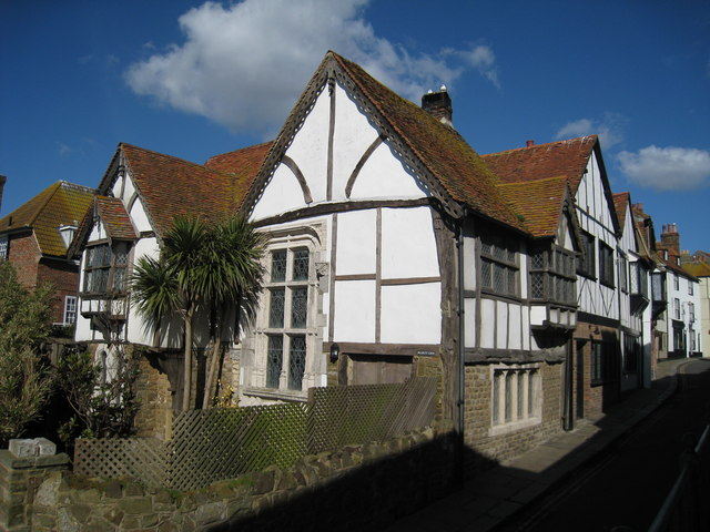 Timber framed house on All Saints' Street, Hastings, East Sussex