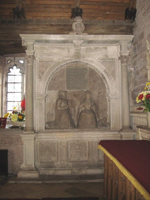 The empty tomb of Blanche Parry,  Bacton church