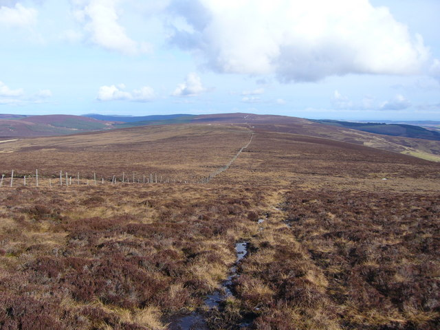 Looking towards Cairn o'Mount from Whitelaws