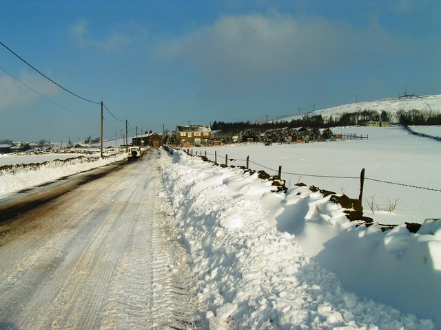 Cock Hill Lane in Snow