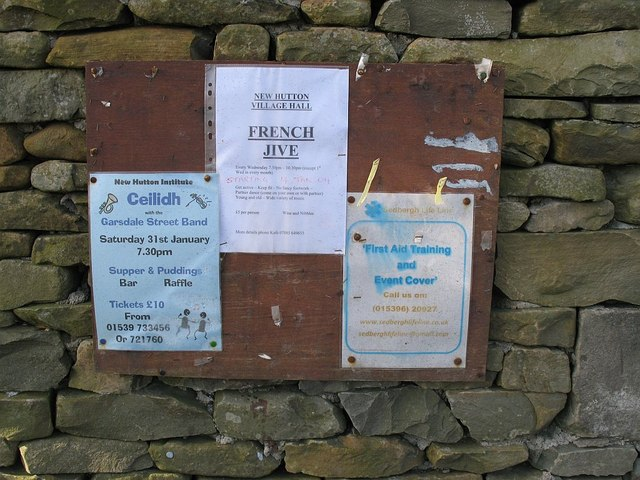 Parish notice board, New Hutton