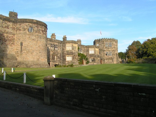 The Occupied section of Skipton Castle taken from inside the outer wall