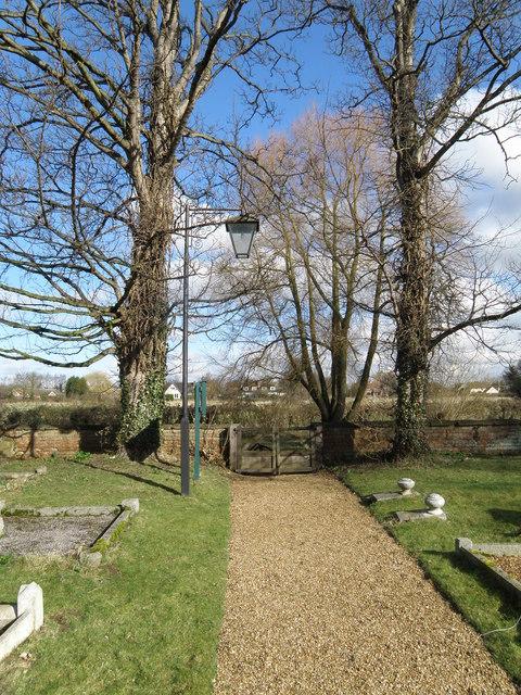 Church yard path at Easton
