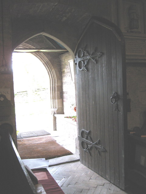 Ancient door, St  Faith's church, Bacton