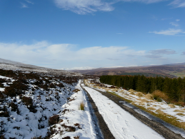 The Glen Loth road, near A' Chrasg