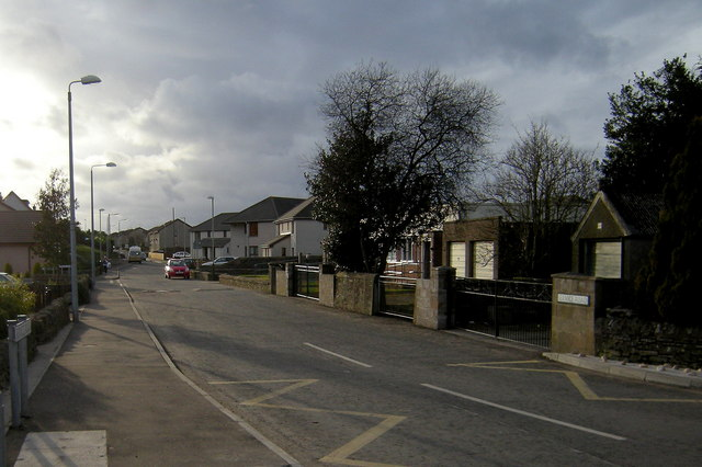 View of Service Road, Forfar looking west
