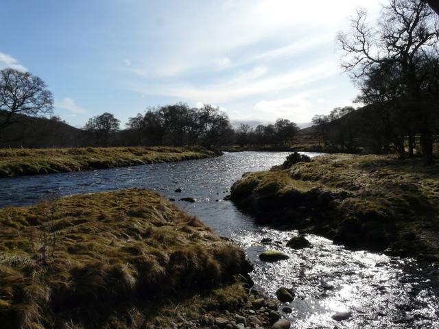 Allt Leitir nan Caille joins the River Helmsdale