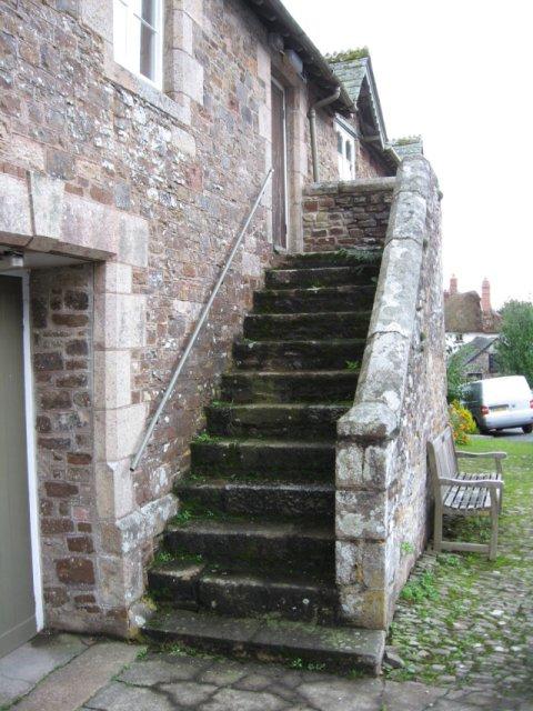 Front door steps, Sampford Courtenay