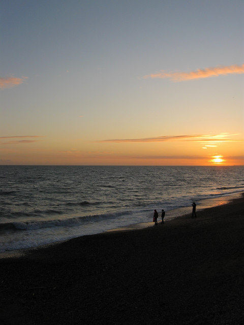 Hove Beach at Sunset