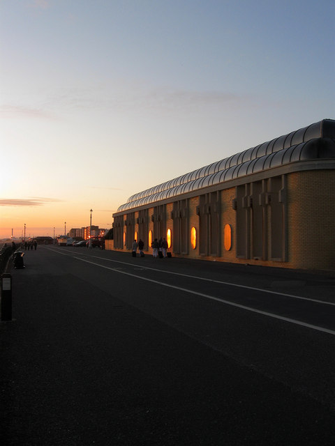 King Alfred Leisure Centre at Sunset