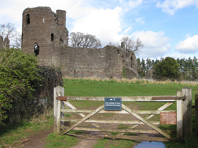 Gated entrance to Grosmont Castle