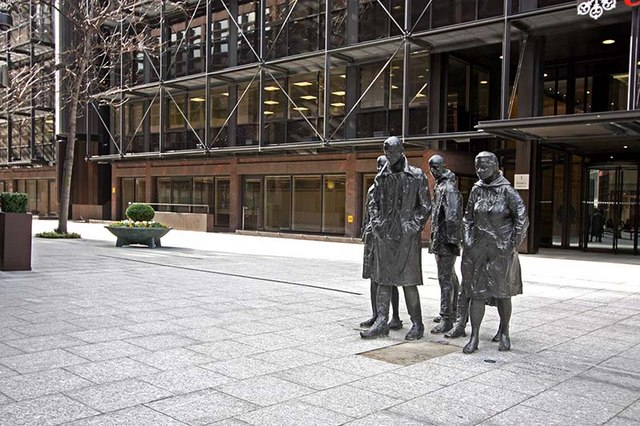 "Sculpture entitled ""Rush Hour"" © John Salmon cc-by-sa/2.0 ..."