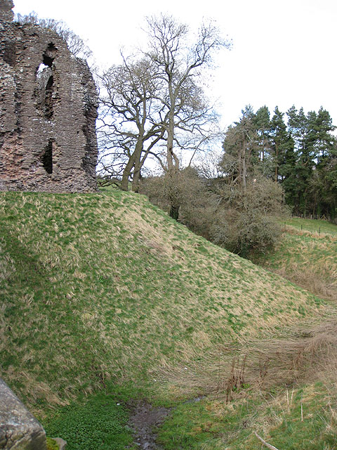 Ditch at Grosmont Castle