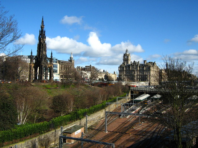 View from the National Gallery of Scotland