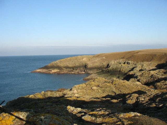 Cliffs on the western side of Wylfa Head