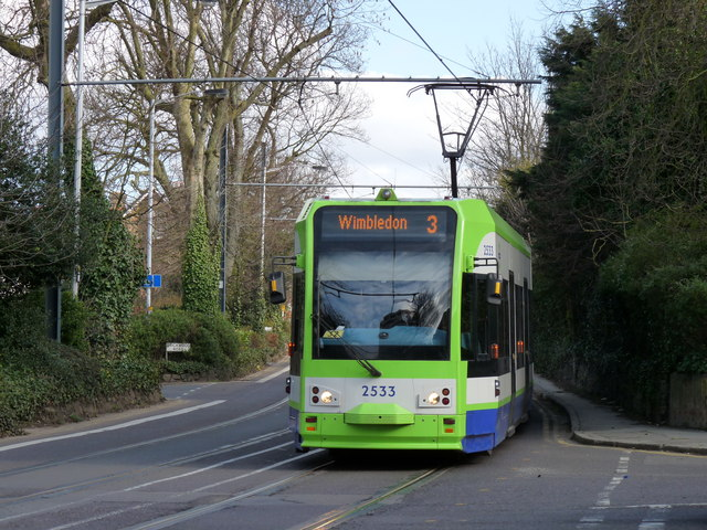 Tram Approaching East Croydon