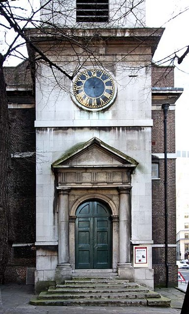 All Hallows, London Wall, London EC2 - West doorway