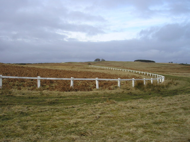 The outward turn on the Gala Rig Racecourse