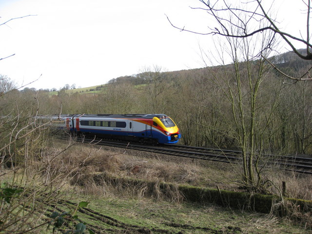 Railway Line alongside Wyver Lane
