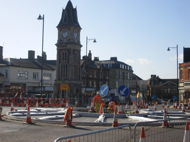 Roadworks at the Clocktower