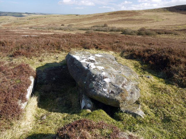 Bronze Age burial cist on Garleigh Moor