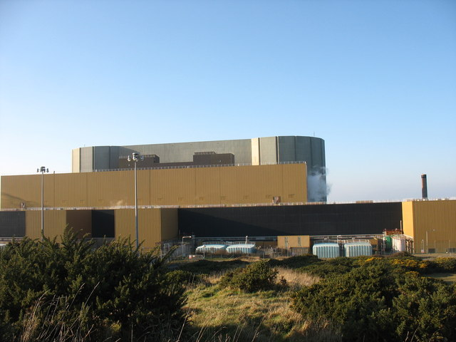The reactor building at Wylfa NP Station