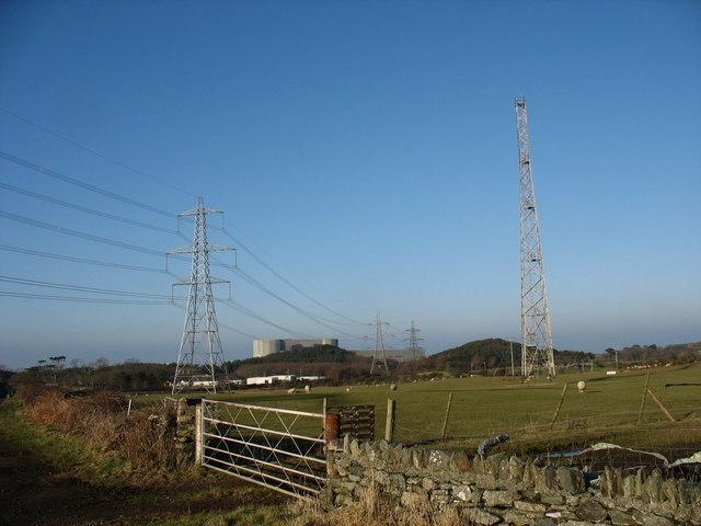 The Wylfa radio mast