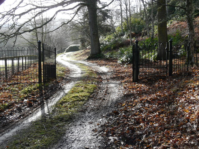 Gate to Cambusmore Lodge