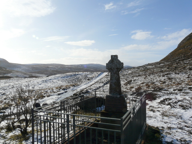 Memorial on the hill above Cambusmore