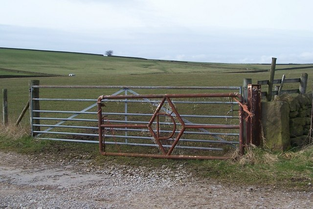 Right 'D' Gate on Wet Shaw Lane, near Ughill