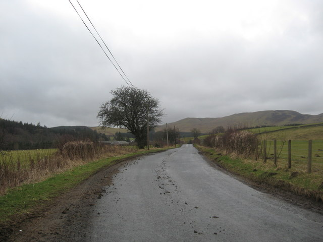 On the way to Singlie Farm in the Scottish Borders