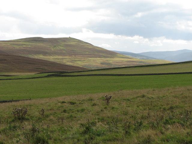 View from Hareshawhead toward Bow Farm