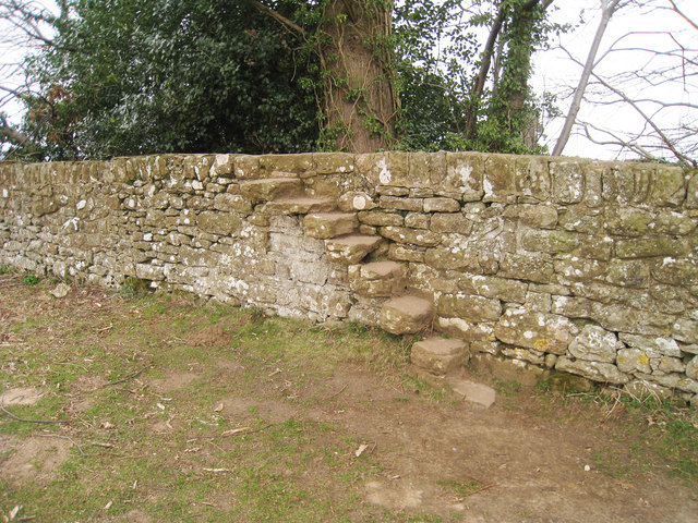 Stile over Wall surrounding Knole Park