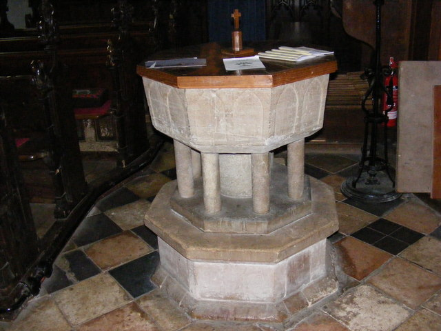 St.Mary's Church Font, Great Bealings