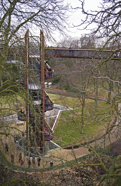 Stairway to the Xstrata Treetop Walkway and Rhizotron, Kew Gardens, Surrey
