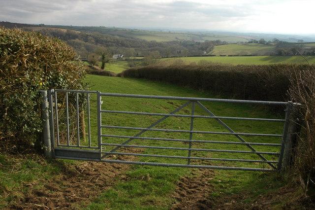 Footpath gate near Lower Filleigh