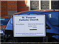 TM1644 : St.Pancras Catholic Church Notice Board, Ipswich by Adrian Cable