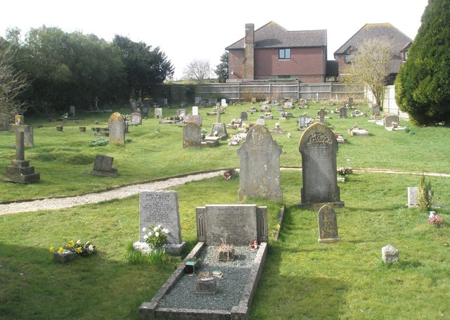 Small cemetery behind St James Church