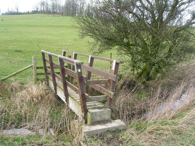Footbridge below Walter Hill