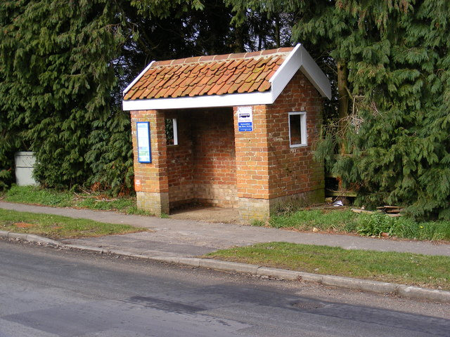 Bus Shelter on B1119 Church Hill, Saxmundham